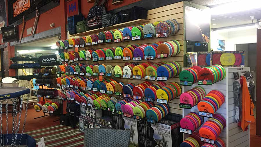 Disc Golf equipment at Helm of Sun Valley in San Jose and Capitola