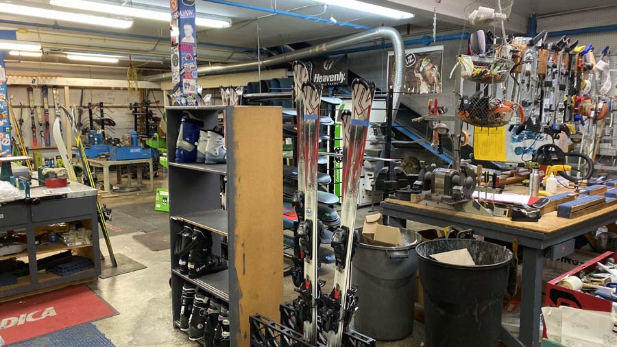 Total ski and snowboard tuning and repair shop at Helmof Sun Valley on Saratoga Avenue in San Jose