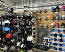 Ski and Snowboard helmets and goggles