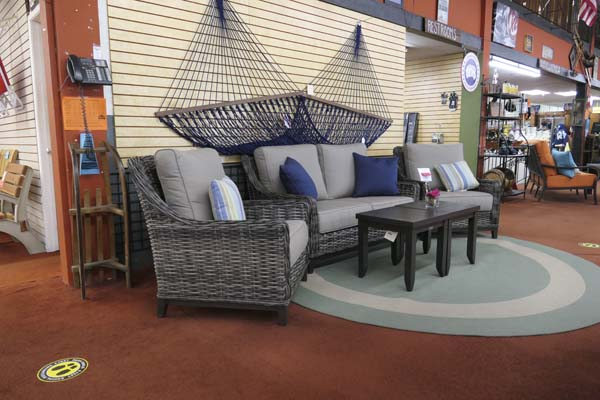 Patio sets at Helm of Sun Valley